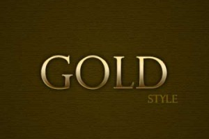 Gold Style cho Photoshop