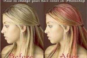 Cách thay đổi màu tóc đơn giản bằng Photoshop