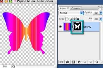 Sử dụng layer mask và vector mask để xóa ảnh nền
