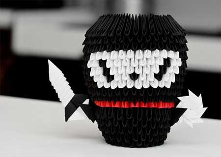Chiêm ngưỡng những tác phẩm xếp hình Origami độc đáo và dễ thương