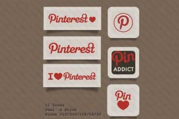 Bộ icon social miễn phí của Pinterest dành cho Web/Blog