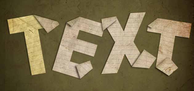 Cách tạo hiệu ứng text theo nếp gấp văn bản