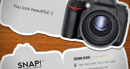 24 mẫu business card ấn tượng dành cho photographer