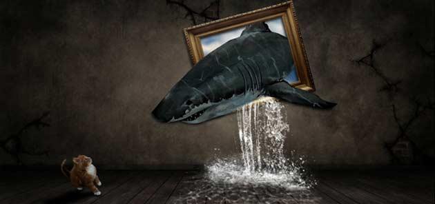Bài hướng dẫn manip đầu tiên - Cá mập thoát ra từ trong tranh