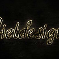 Perfect Gold Text Effect - Hiu ng ch m vng