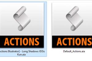 actions illustrator