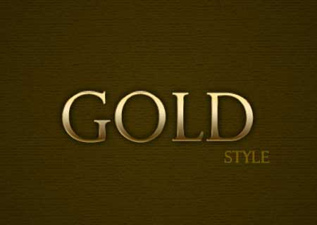 Gold Style cho Photoshop