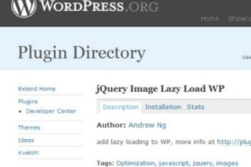Tăng tốc cho WordPress với plugin jQuery Image Lazy Load WP