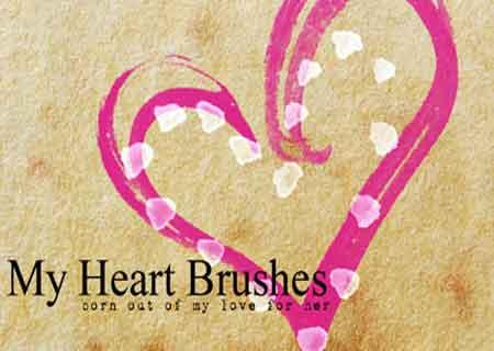 23 bộ Brush dành cho thiết kế Valentine