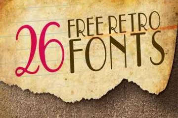 26 bộ Font chữ Retro cổ điển đẹp ấn tượng