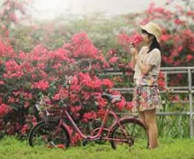 Bộ stock cô gái Trung Hoa hòa quyện cùng thiên nhiên